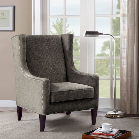 Madison Park Weston Brown Wing Chair