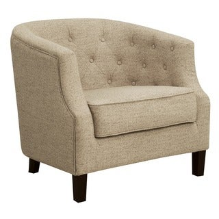 Madison Park Aden Stone Chesterfield Barrel Chair