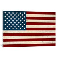 iCanvas US Constitution - American Flag by iCanvas Canvas Print