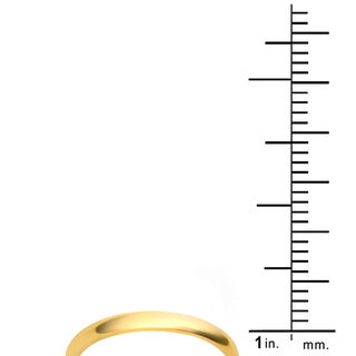 Divina 10k White and Yellow Gold 2-millimeter Plain Boxed Wedding Band