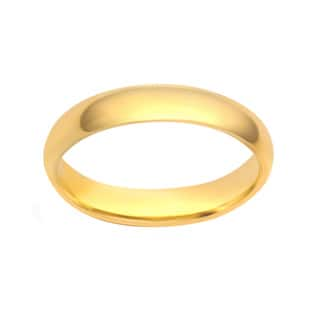 Divina 10KT White and Yellow Gold 2-millimeter Plain Boxed Wedding Band
