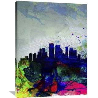 Naxart Studio 'New Orleans Watercolor Skyline' Stretched Canvas Wall Art
