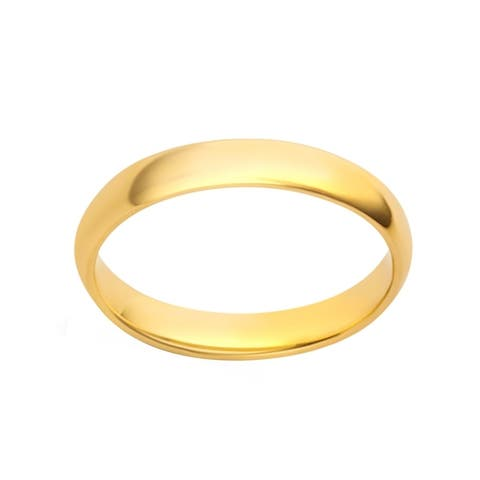 Divina 10KT White/Yellow Gold 3-millimeter Plain Wedding Band and Box