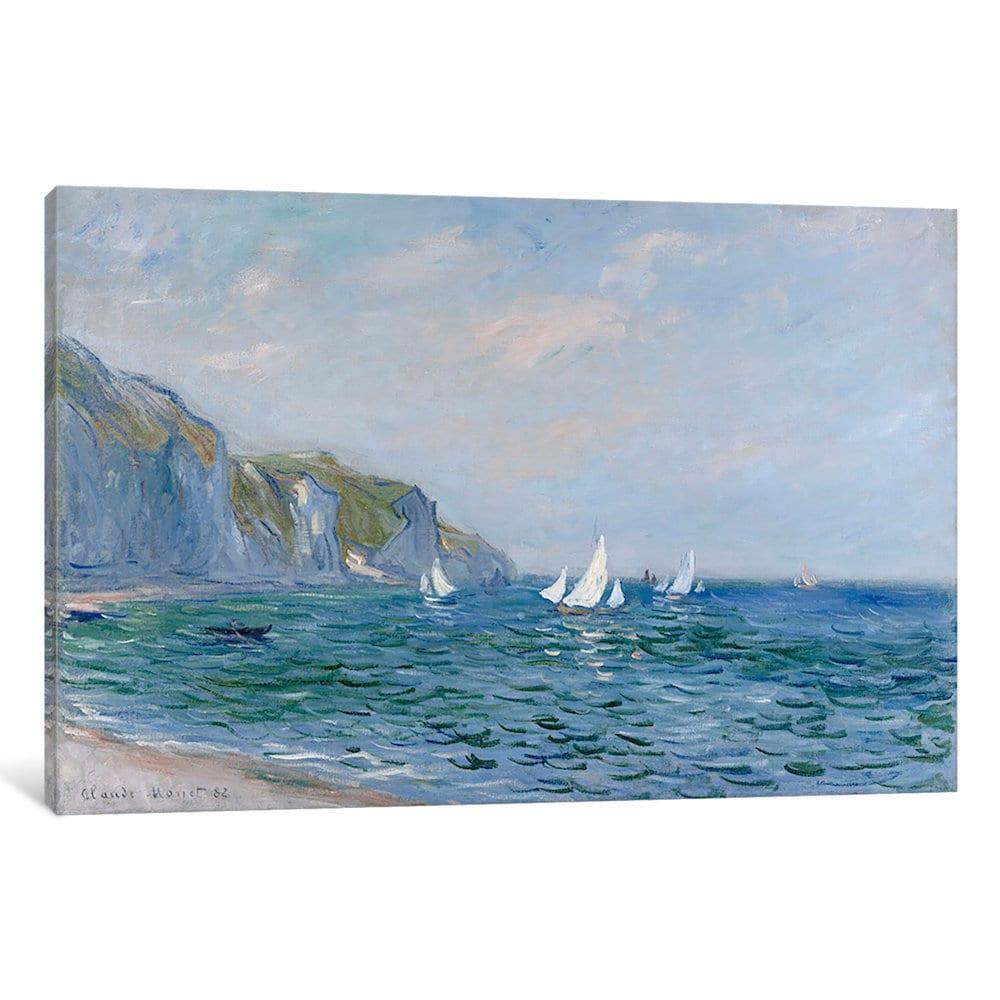 iCanvas Cliffs and Sailboats at Pourville by Claude Monet...