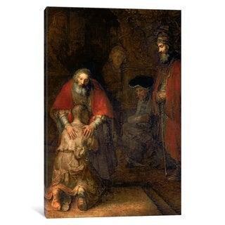 iCanvas Return of the Prodigal Son, c.1668-69 by Rembrandt van Rijn Canvas Print