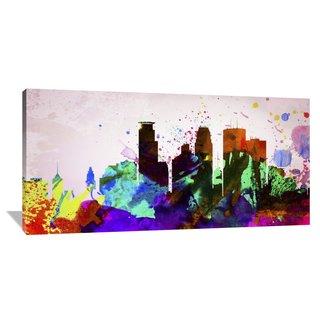Naxart Studio 'Minneapolis City Skyline' Stretched Canvas Wall Art