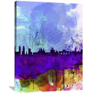Naxart Studio 'Madrid Watercolor Skyline' Stretched Canvas Wall Art