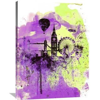 Naxart Studio 'London Watercolor Skyline 1' Stretched Canvas Wall Art