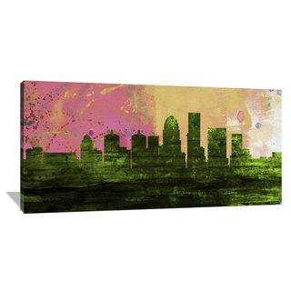 Naxart Studio 'Louisville City Skyline' Stretched Canvas Wall Art
