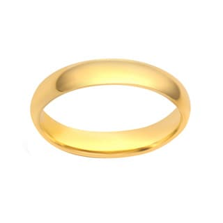 Divina 10k White or Yellow Gold 4-millimeter Plain Wedding Band