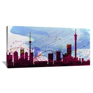 Naxart Studio 'Johannesburg City Skyline' Stretched Canvas Wall Art