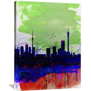 Naxart Studio 'Johannesburg Watercolor Skyline' Stretched Canvas Wall Art