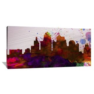 Naxart Studio 'Kansas City Skyline' Stretched Canvas Wall Art