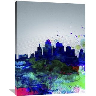 Naxart Studio 'Kansas City Watercolor Skyline' Stretched Canvas Wall Art