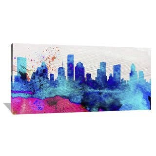 Naxart Studio 'Houston City Skyline' Stretched Canvas Wall Art