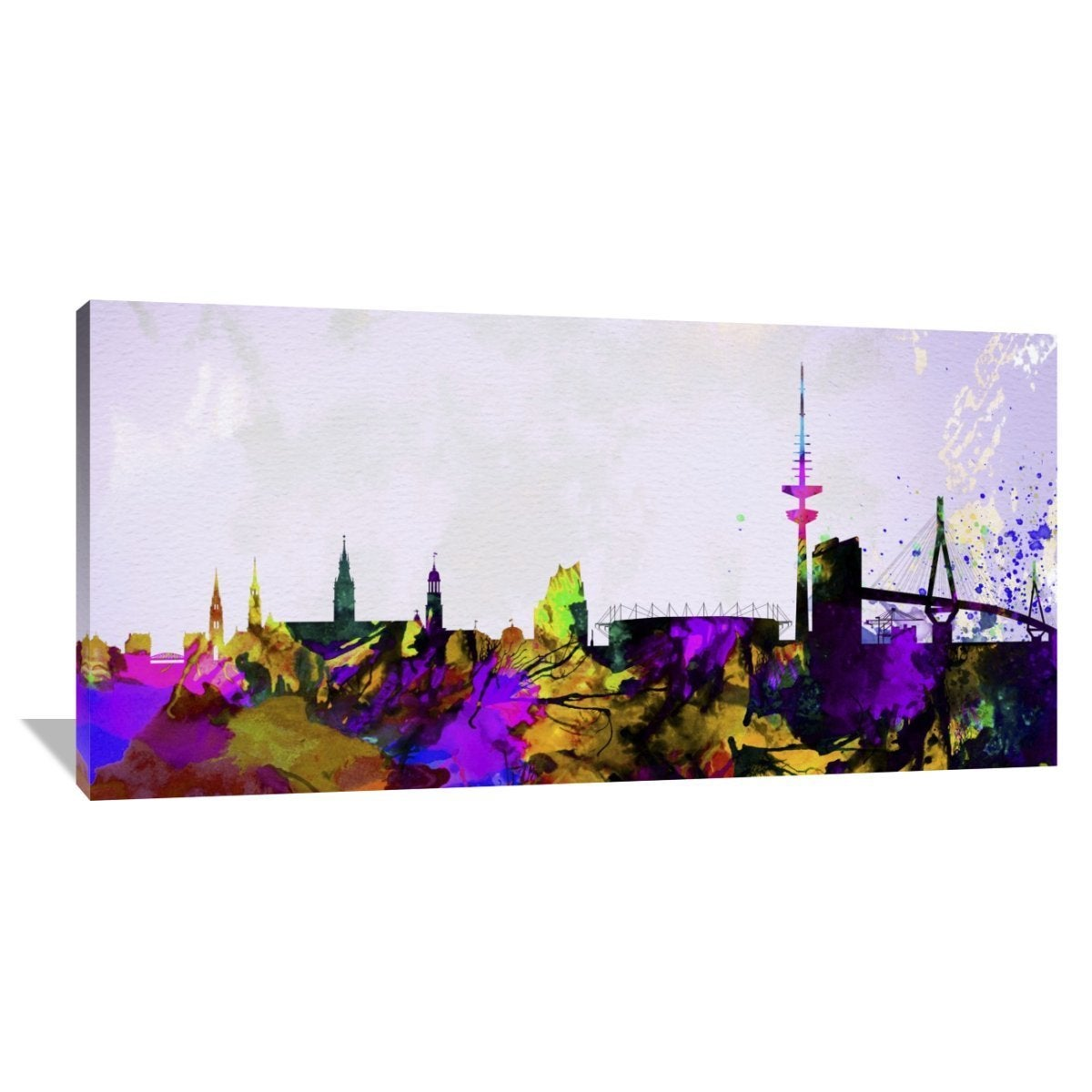 Germany Cityscape Giclee Canvas Picture Art Hamburg