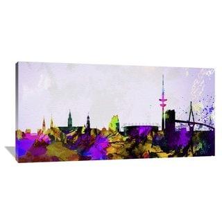 Naxart Studio 'Hamburg City Skyline' Stretched Canvas Wall Art