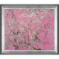 Vincent Van Gogh 'Branches of and Almond Tree in Blossom, Pearl Pink (Luxury Line)' Hand Painted Framed Canvas Art