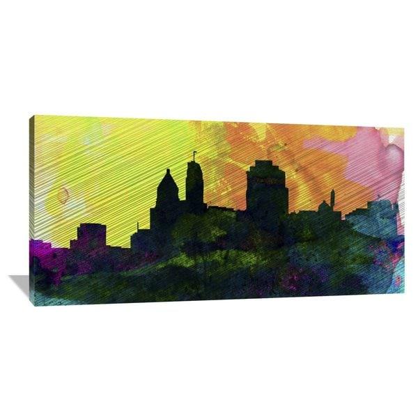 Naxart Studio 'Cincinnati City Skyline' Stretched Canvas Wall Art