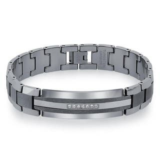 Men's Tungsten and Stainless Steel 1/5ct TDW Diamond ID Bracelet By Ever One (H-I, I2) https://ak1.ostkcdn.com/images/products/12754939/P19530903.jpg?impolicy=medium