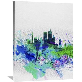 Naxart Studio 'Boston Watercolor Skyline' Stretched Canvas Wall Art