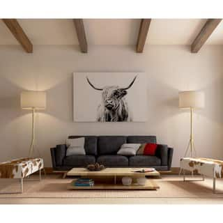 iCanvas Portrait Of A Highland Cow by Dorit Fuhg Canvas Print|https://ak1.ostkcdn.com/images/products/12754953/P19531105.jpg?impolicy=medium