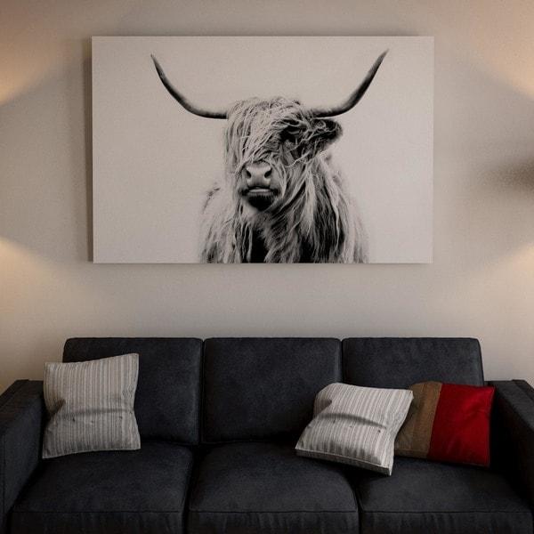iCanvas Portrait Of A Highland Cow Canvas Print
