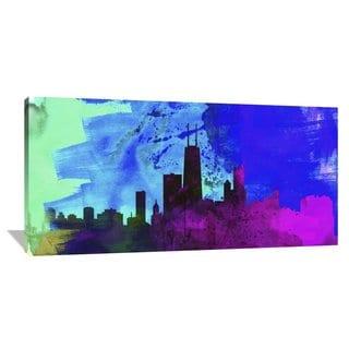 Naxart Studio 'Chicago City Skyline' Gallery-wrapped Giclee Canvas Art