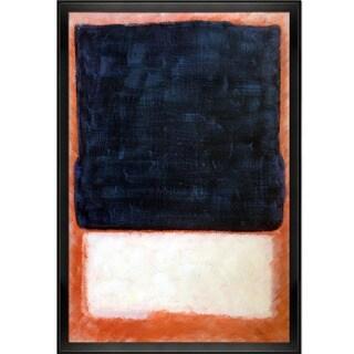 Mark Rothko 'No. 7 (Dark Over Light), 1954' Hand Painted Framed Canvas Art