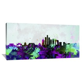 Naxart Studio 'Beijing City Skyline' Multicolored Stretched Canvas Wall Art