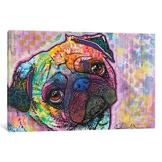 iCanvas Pug Love by Dean Russo Canvas Print
