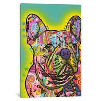 iCanvas French Bulldog III by Dean Russo Canvas Print