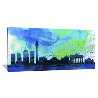 Naxart Studio 'Berlin City Skyline' Gallery-wrapped Giclee Canvas Art
