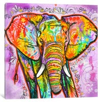 iCanvas Elephant by Dean Russo Canvas Print