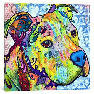 iCanvas Thoughtful Pit Bull This Years I by Dean Russo Canvas Print