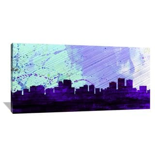 Naxart Studio 'Anchorage City Skyline' Stretched Canvas Wall Art