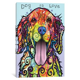 iCanvas Dog Is Love by Dean Russo Canvas Print