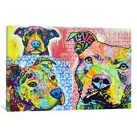 iCanvas Thoughtful Pit Bull This Years II by Dean Russo Canvas Print