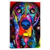 iCanvas BASSET by Dean Russo Canvas Print