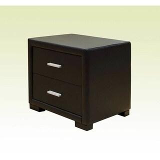 Greatime 2 drawer Vinyl nightstand