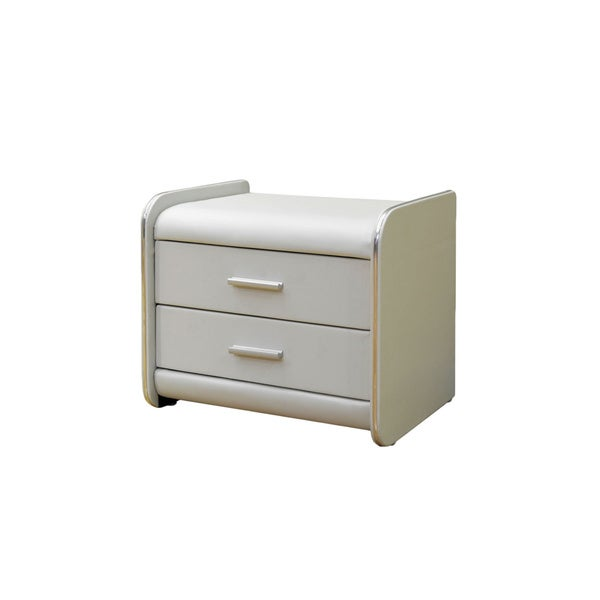 Greatime Vinyl Two-drawer Nightstand