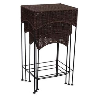 Resin Wicker Nested Accent Table Set (3 Pieces)
