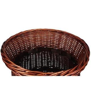 Household Essentials Tan Willow Poplar Wicker Urn