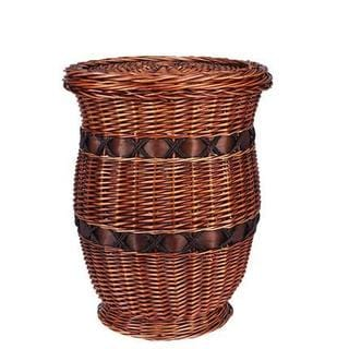 Medium Willow Poplar Wicker Urn Table