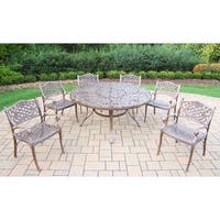 Oakland Living Outdoor Dining Table and 6 Chairs (7-piece Set)