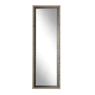 Multi Size BrandtWorks Noble Black and Pewter Floor Mirror - Black/Silver