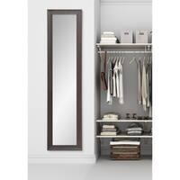 BrandtWorks Multi Size Slim Espresso Brown Wood Rustic Floor Mirror