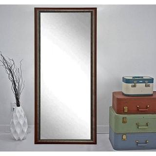 Carved Mahogany Framed Floor Mirror