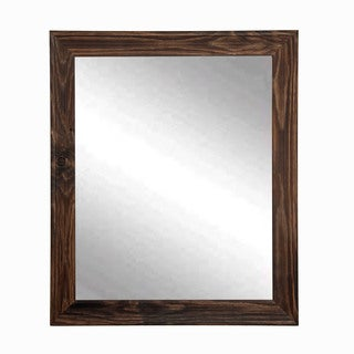 Multi Size BrandtWorks Rustic Espresso Wall Mirror - Brown