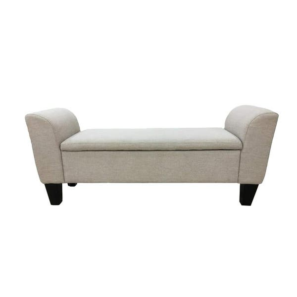 Stupendous Shop Claire Upholstered Storage Bench Free Shipping Today Andrewgaddart Wooden Chair Designs For Living Room Andrewgaddartcom